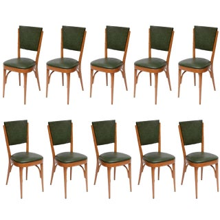 Italian Modernist Dining Chairs - Set of 10 For Sale