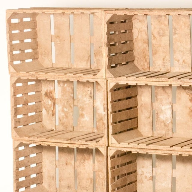 1900 - 1909 Bookcase Made Out of 12 Wooden Crates From Early 20th Century France For Sale - Image 5 of 6