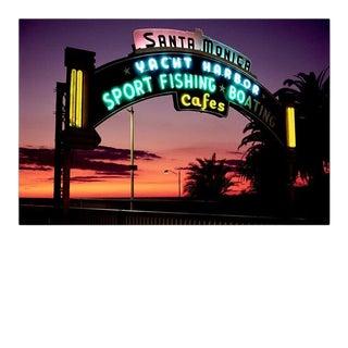 Contemporary 'Santa Monica Pier' Fine Art Photographic Print by Artist Clive Frost - 24x16