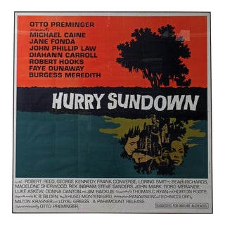 Large Scale Movie Poster Hurry Sundown For Sale