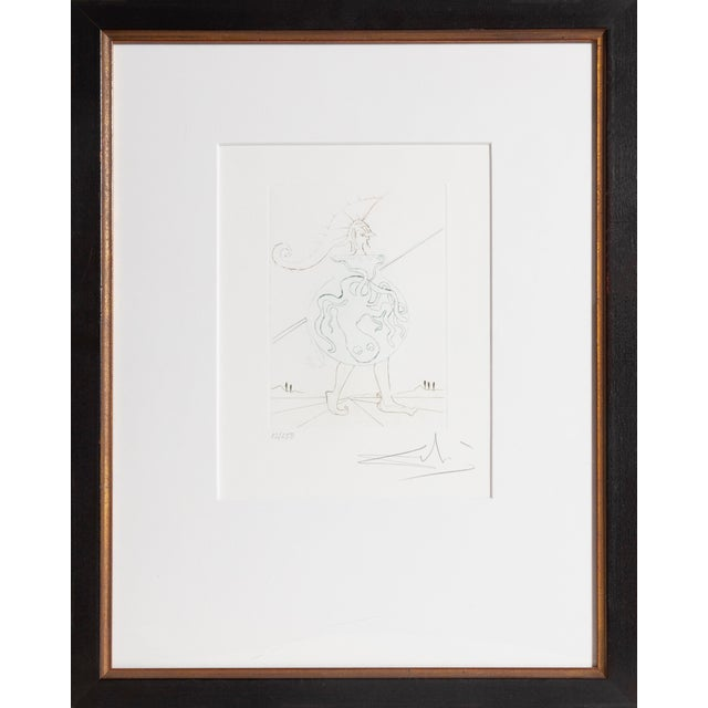 Artist: Salvador Dali Title: Henry V from Much Ado about Shakespeare Year: 1970 Medium: Color Etching on Rives Paper,...