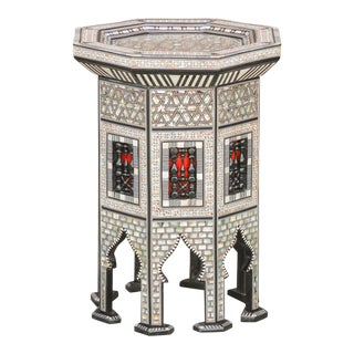 Gorgeous Mother-Of-Pearl Syrian Table For Sale