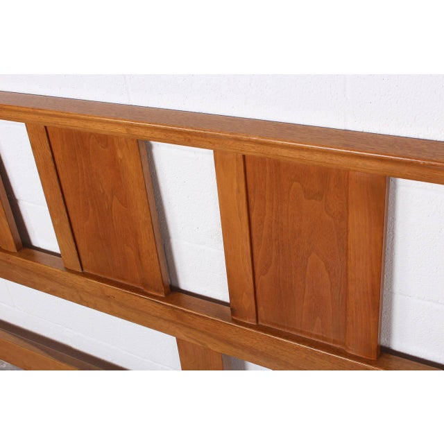 Bleached Mahogany Headboard by Edward Wormley for Dunbar For Sale In Dallas - Image 6 of 10