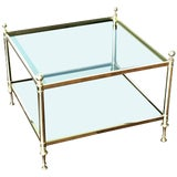 Image of Vintage Maison Bagues Brass Coffee Table For Sale