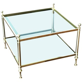 Vintage Maison Bagues Brass Coffee Table For Sale