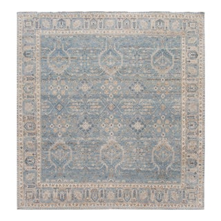 21st Century Contemporary Square Indian Wool Rug For Sale