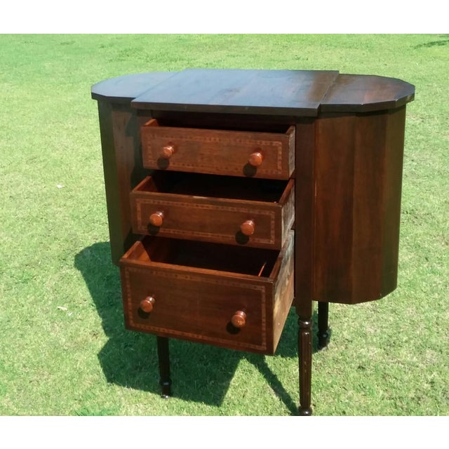 1920s Martha Washington Mahogany Sewing Cabinet For Sale In Los Angeles - Image 6 of 10