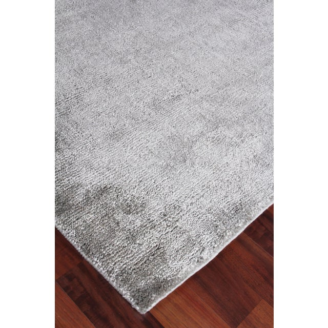 Textile Exquisite Rugs Milton Hand Loom Viscose Light Silver - 6'x9' For Sale - Image 7 of 8