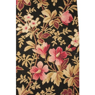 Antique Fabric French 1880 Belle Epoque Black Printed Cotton For Sale