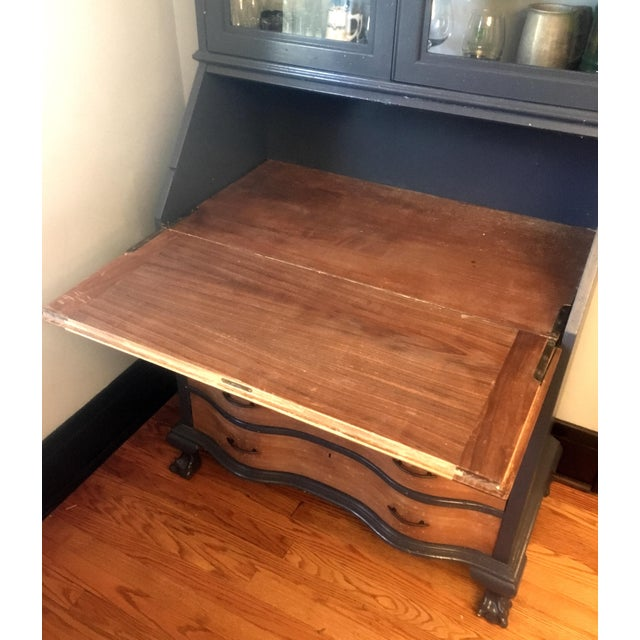 19th Century Chippendale Slant Front Mahogany Maddox Secretary Desk For Sale In New York - Image 6 of 11