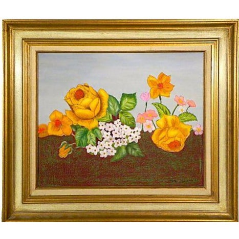 Golden Roses Oil Painting - Image 1 of 3