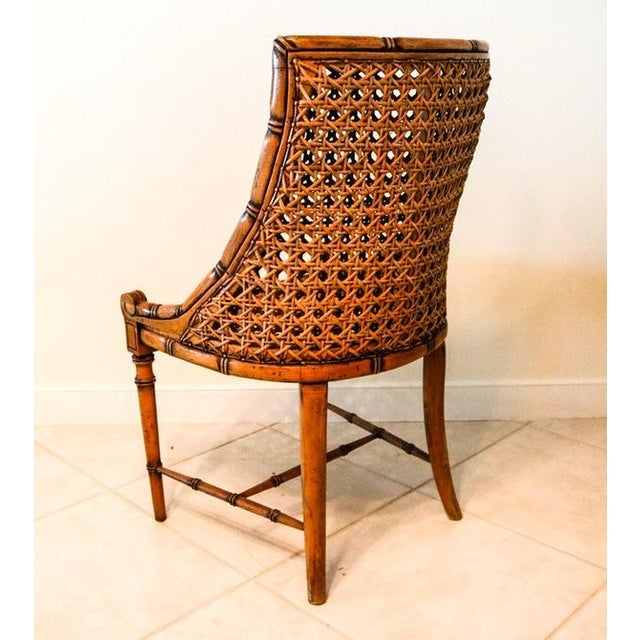 McGuire Style Octagonal Rattan Dining Set - Image 3 of 10