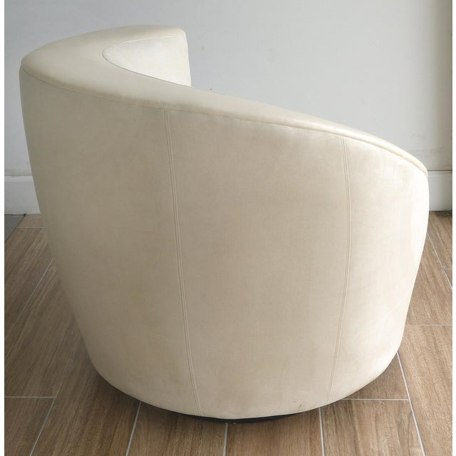 Directional Nautilus Chair & Ottoman by Vladimir Kagan for Directional-Set of 2 For Sale - Image 4 of 13