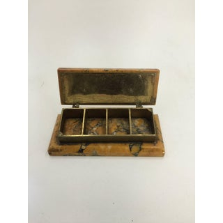 19th Century Marmo Gialo and Bronze Stamp Box Preview