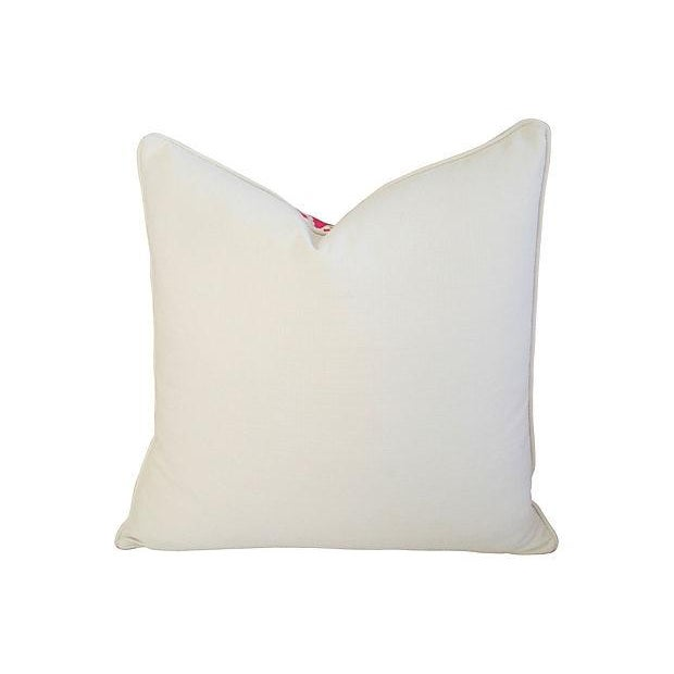 Designer Lee Jofa Lilly Pulitzer Dragon Tail Lights Pink/White Pillows - Pair - Image 5 of 7