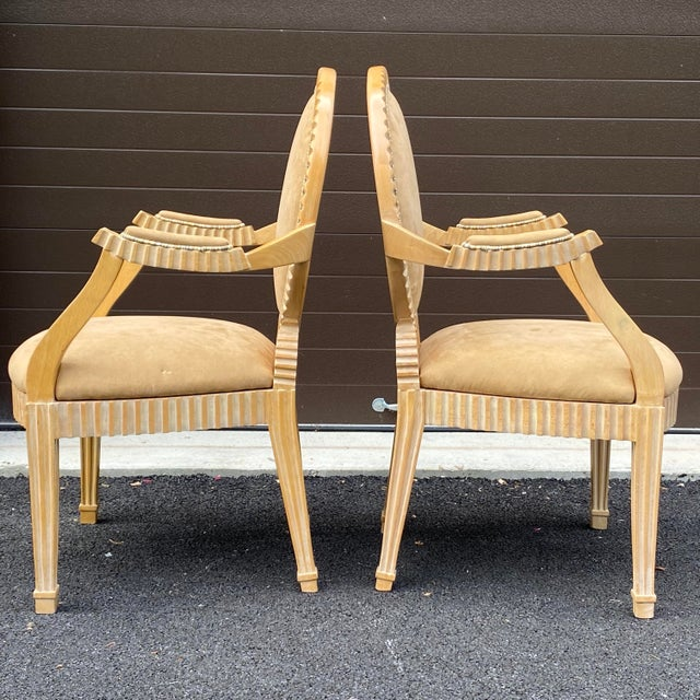 John Hutton 1980s John Hutton for Donghia Style Soleil Armchair - a Pair For Sale - Image 4 of 13