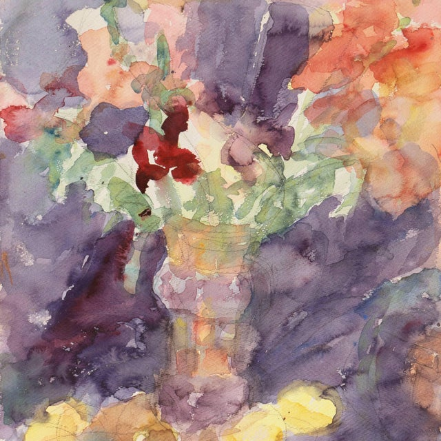 'Irises' by Janet Ament, California Post-Impressionist Woman Artist, Los Angeles County Museum of Art, Paris For Sale - Image 4 of 9
