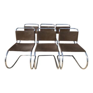 1960s Mies Van Der Rohe for Knoll Mr Chairs- Set of 6 For Sale
