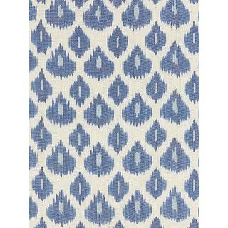Sample, Scalamandre Amara Ikat Weave, Lapis Fabric For Sale