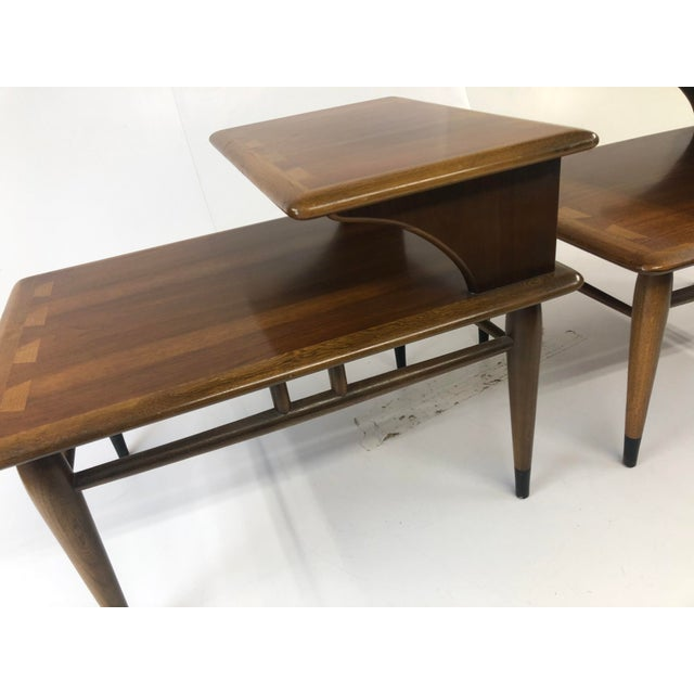 Vintage Mid Century Modern Step Tables - a Pair - Acclaim by Lane Furniture For Sale - Image 10 of 13