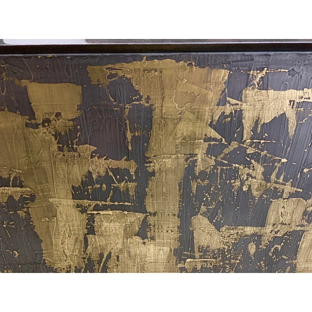Gold Bridges Over Time Originals Brass and Iron Sculpted Credenza For Sale - Image 8 of 11