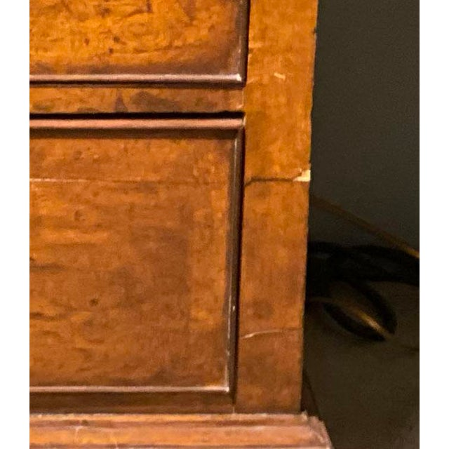 19th Century English Walnut Five Drawer Chest For Sale - Image 10 of 12