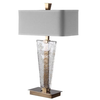 Handmade Glass Table Lamp For Sale