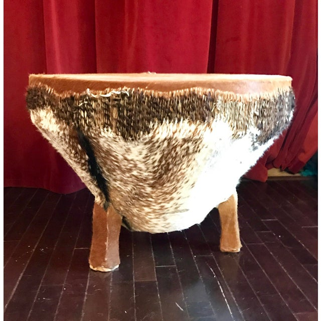 1968 African Tribal Drum Table For Sale - Image 12 of 12