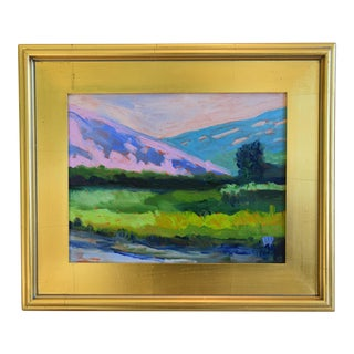 California Plein Air Foothills in Bloom Oil Painting W/ Gold Leaf/Gilt Frame