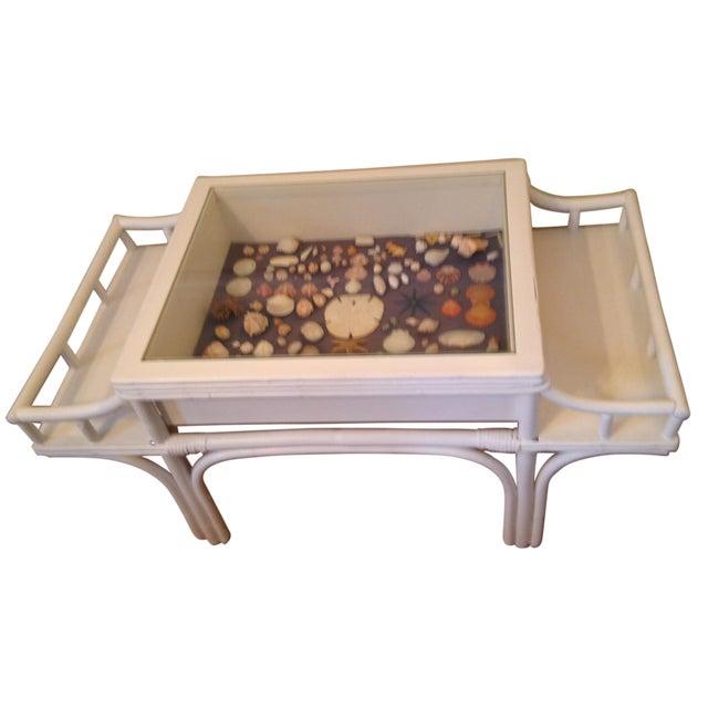 Bamboo Seaside Shadow Box Coffee Table - Image 1 of 9