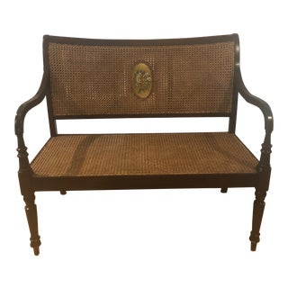 Antique Sheraton Caned Settee For Sale