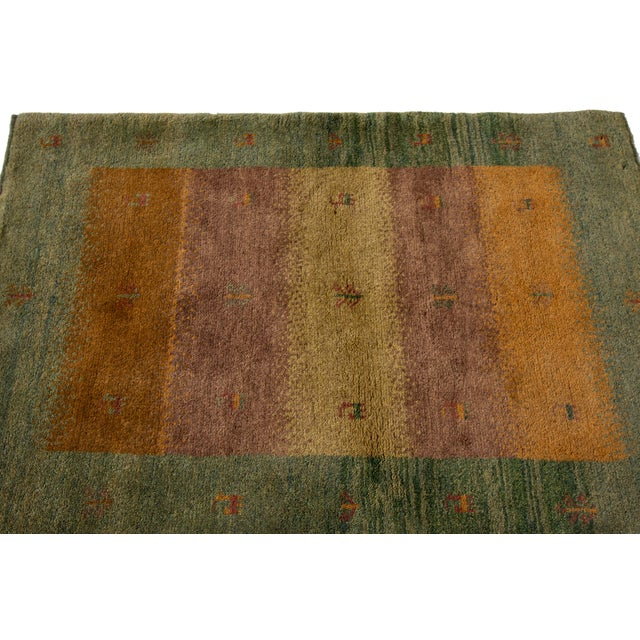 "Mid-20th Century Persian Gabbeh Rug, 2'9"" X 3'10"" For Sale In New York - Image 6 of 9"