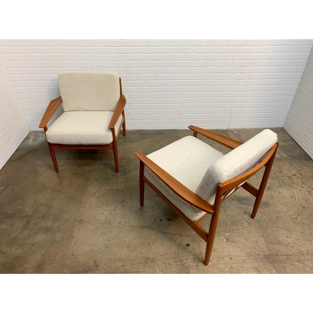 Arne Vodder Teddy Faux Fur Danish Modern Lounge Chairs - a Pair For Sale In Los Angeles - Image 6 of 11