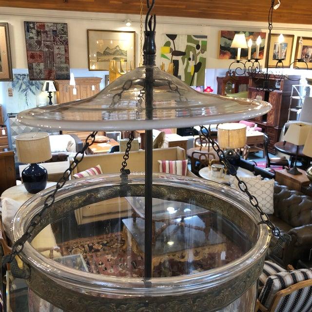 Blown Glass Vintage Val Saint Lambert Hundi Lantern For Sale - Image 7 of 13
