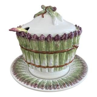 Vintage Italian Asparagus Tureen Set - 3 Piece Set For Sale