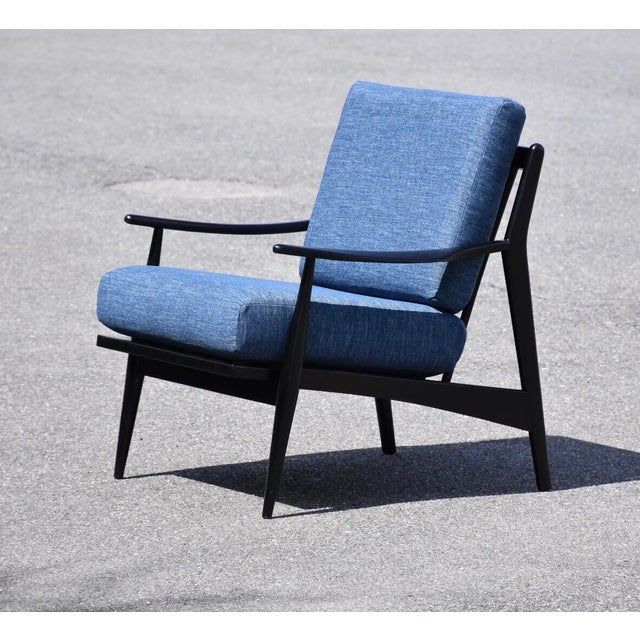 Black Lacquered MCM Lounge Chair For Sale In Boston - Image 6 of 6