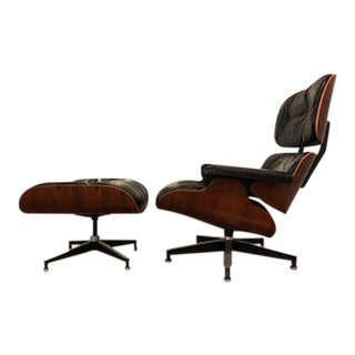 Eames Vintage Rosewood Chair & Ottoman, 1960's