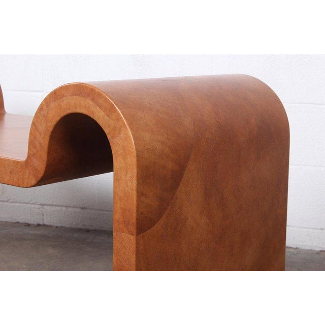 Karl Springer Goatskin Parchment Bench For Sale - Image 10 of 13