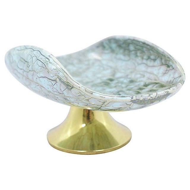 Mid-Century Modern Delft Porcelain Pedestal Bowl For Sale - Image 3 of 8
