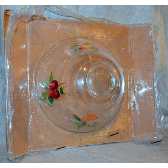 Vintage Glass Fruit Dish For Sale - Image 4 of 6