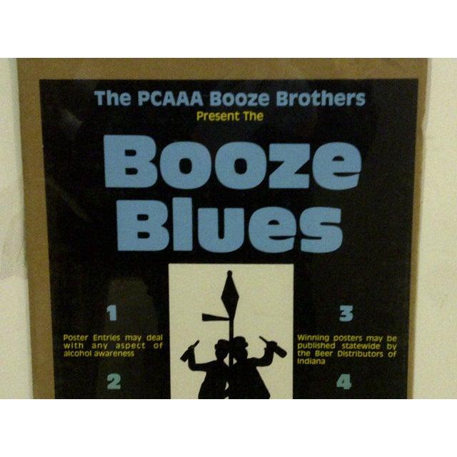 "Pop Art 1980 Vintage ""Booze Blues"" Concert Poster For Sale - Image 3 of 5"