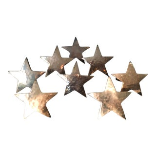 1980s Star Shaped Brass Napkin Rings - Set of 8 For Sale