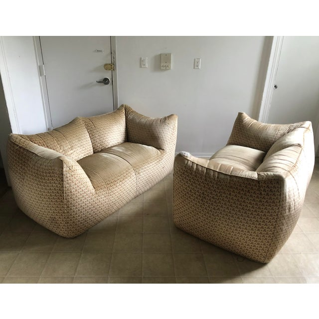 "Textile Original ""Le Bambole"" Sofa With Ottoman - 2 Pieces For Sale - Image 7 of 13"
