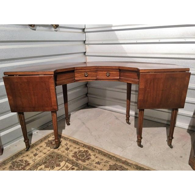 "Vintage Thomasville Drop-Leaf ""Horseshoe"" Desk - Image 6 of 10"