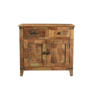 Two Drawer Mango Wood Hall Chest