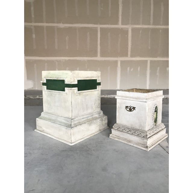 Second of two hand made containers/planters. Each unit consists two parts, the top container resting on the plinth. With...