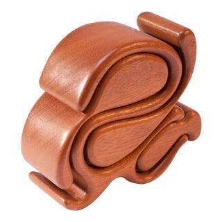Walnut Jewelry Puzzle Box by Richard Rothbard For Sale