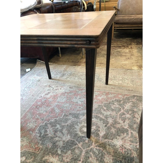 Vintage Mid Century Folding Card Table For Sale - Image 10 of 13