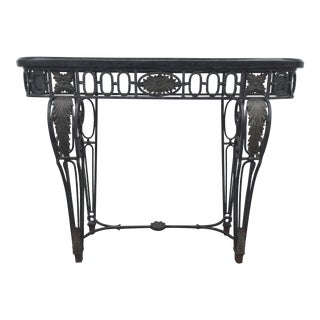 Maitland-Smith Marble & Metal Console