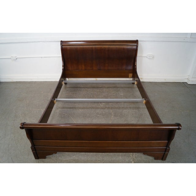 Grange Cherry Wood Queen Size Sleigh Bed - Image 8 of 10